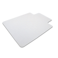 Bescherm.mat v harde vloer, hoekig, m. uitsparing, 920x1210 mm