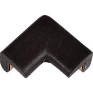 Beschermende hoek voor Knuffi-hoekbeschermingsprofiel type E, 2-potig, polyurethaanschuim, zwart