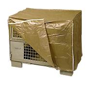 Beschermhoes voor gaascontainer, met 2 ritssluitingen, bruin