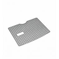 Beschermrek BIO-CIRCLE®, voor wastafel SL Compact, geperforeerde roestvrijstalen plaat, zilver