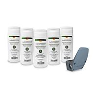 Besparingsset Handvrije deuropener Clean4Health, voor ronde & vierkante handgrepen Ø 16-24 mm + 5x handdesinfectiemiddel multiGREEEN®, 50 ml
