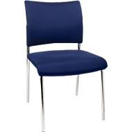Besucherstuhl, 4-Fuß, Polster, ohne Armlehnen, im 2er-Set, blau