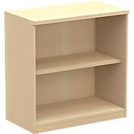 BEXXSTAR boekenkast, 2 OH, B 800 x D 420 x H 825 mm, beukendecor