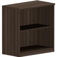 BEXXSTAR boekenkast, 2 OH, B 800 x D 420 x H 825 mm, walnootdecor