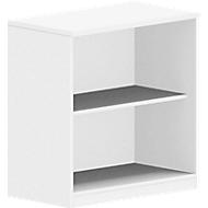 BEXXSTAR boekenkast, 2 OH, B 800 x D 420 x H 825 mm, wit