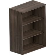 BEXXSTAR opzet boekenkast, spaanplaat, 3 OH, B 800 x D 420 x H 1070 mm, walnootdecor