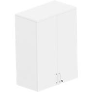 BEXXSTAR opzetkast, 3 OH, met zichtachterwand, houten deuren, b 800 mm, wit