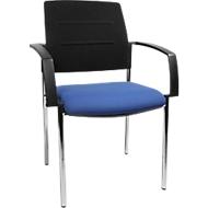 Bezoekersstoel SSI PROLINE Visit S1, blauw/zwart