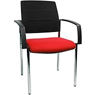 Bezoekersstoel SSI PROLINE Visit S1, rood