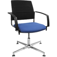 Bezoekersstoel SSI Proline Visit S3+, blauw/zwart