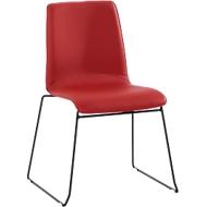 Bezoekersstoel ZEROS´SE, zwart/rood