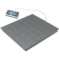 BIC vloerweegschaal, weegbereik 300/600 kg, hoge resolutie, weegplaat 1.000 x 1.000 mm