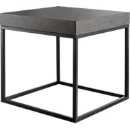 Bijzettafel Beton, 500 x 500 x 530 mm, zwart