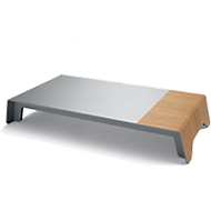 Bildschirmerhöhung sigel® smartstyle, bis 5 kg, ohne Qi-Ladefunktion, Kunststoff/Acryl, Metallic-Holz-Optik