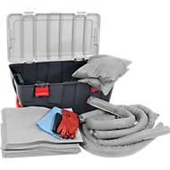 Bindfleece-caseset, noodoproepset, met kunststof koffer met wielen, inhoud 75 l.