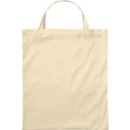 Bio-Baumwoll-Tasche, kurz, natur