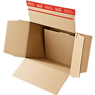 Blitzbodenkarton, DIN A5, doppelter Boden, Selbstklebeverschluss, braun, 10 Stück