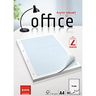Bloc-notes pour classeur Elco Office A4, quadrillage 5 mm