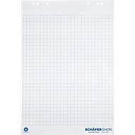 Blocs pour Flipchart en papier recyclé, 5x20 feuilles, 80 g/m², quadrillé