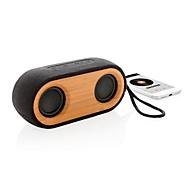 Bluetooth Lautsprecher Bamboo X, 10 m, Bambus/Baumwolle/Hanffasern/Recycling PET, Werbedruck 35 x 50 mm