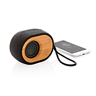 Bluetooth-Lautsprecher Bamboo X, 5 W, 8 h Spielzeit, BT 4.2, Bambus, schwarz-braun