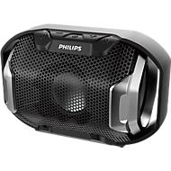 Bluetooth Lautsprecher Philips ShoqBox SB300B, 4 W, IPX7, Freisprechfunktion, schwarz/silbern