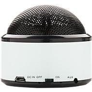 Bluetooth Lautsprecher, Reichweite 10 m, Spielzeit 3 Stunden, weiß