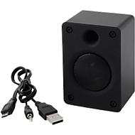 Bluetooth luidspreker OLD SCHOOL, 3 watt, incl. oplaadkabel, reclameprint optioneel, zwart