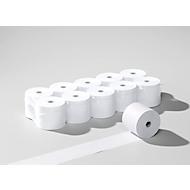 Bobines de papier thermique, pour appareil de paiement électronique, vierge, 10 rouleaux