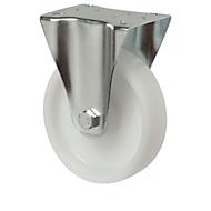 Bockrolle, Polyamid, ø 80 x B 35 mm, rollengelagert, ohne Feststeller