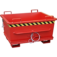 Bodemklepcontainer BKB 500, rood