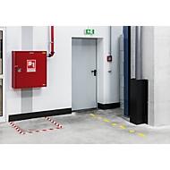 Bodenmarkierungsband Durable, zweifarbig, selbstklebend, 30 m Länge, rot/weiß