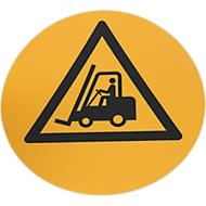 Bodenmarkierungsronde Vorsicht Flurförderfahrzeuge