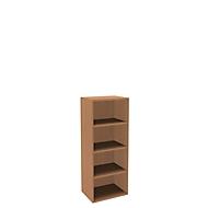 Boekenkast, 4 OH, fijne spaanplaat, B 600 x D 450 x H 1580 mm, beukendecor