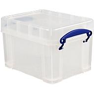 Boîte de rangement en plastique transparent avec couvercle, 3 litres