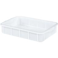 Boîte, plastique, 28L, blanc