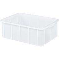 Boîte, plastique, 35L, blanc