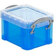 Boîte, plastique, bleu transparent, 3L
