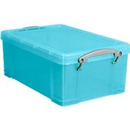 Boîte, plastique, turquoise transparent, 9L