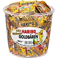 Bonbons ours d'or Haribo, seau de 980 g , 100 sachets