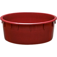 Bottich aus Kunststoff, lebensmittelecht, stapelbar, 110 Liter, rot