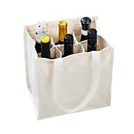 Bottle Bag, Natur, Standard, Auswahl Werbeanbringung optional