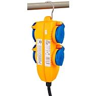 Bouwplaatskabel, haardstoel® IP 54 met vermogensblok, 5 m.
