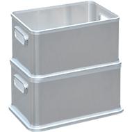 Box, Aluminium, ohne Deckel, 30 Liter