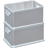 Box, aluminium, zonder deksel, 30 liter