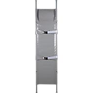 Brancard N, inklapbaar, van aluminium, zwaar belastbaar, met vak voor hoofdkussen