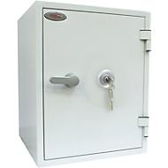 Brandbeveiligingskast FS 1283 K, sleutelslot, staal, signaalwit RAL 9003, signaalwit RAL 9003