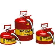 Brandveilige afvalbak type II van plaatstaal, 4,0 l