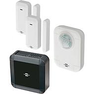 Brennenstuhl BrematicPRO Starter Set Überwachung, mit 2 Tür-/Fensterkontakten + Bewegungsmelder