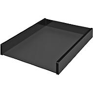 Briefablage WEDO Black Office, A4, schwarz mattiert/glänzend, stapelbar